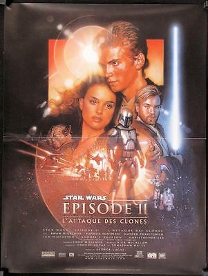 R192 ATTACK OF THE CLONES French movie poster '02 Star Wars Episode II