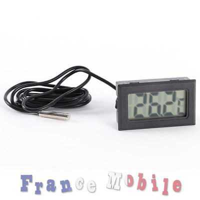 Thermométre Digital LCD Température Screen Cave á Cigare Maison Aquarium Sonde