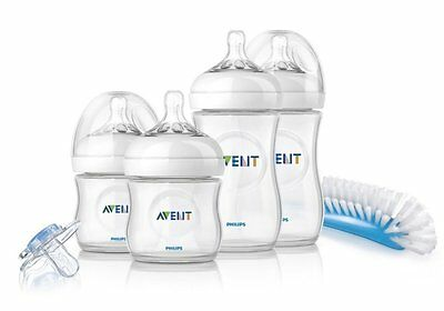 Philips Avent Set 4 Biberones Recien Nacido, Bebe, Gama Natural, Anticolicos