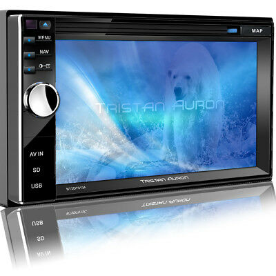 Autoradio Mit Touchscreen Display Bluetooth Dvd/cd-Player Usb Sd Aux Doppel 2Din