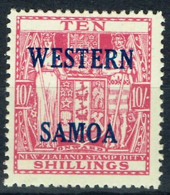 Western Samoa 1941 10s Pale Carmine Lake SG194b Wiggins Teape Very Lightly Mtd