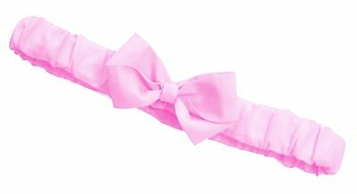 -:- Soft Pink Ruffled Bow Headband -:- All Sizes available from Preemie to Adult