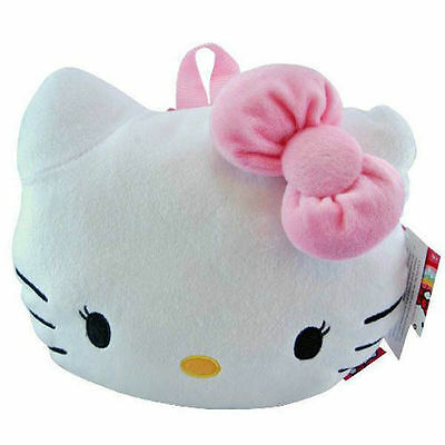 """NWT Sanrio Hello Kitty Plush Doll Backpack 15/"""" Pink Dots Newest Style"""