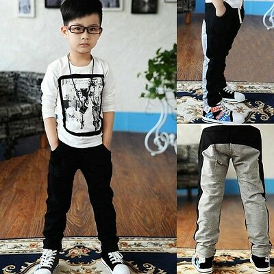 Cute Kid Boy Child Casual Sports Cozy Cotton Pants Toddler Trousers Clothes 2-7Y
