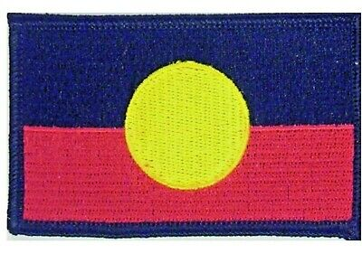 Aboriginal Flag Indigenous Flag Embroidered Flag Patch INCLUDES FREE STICKER