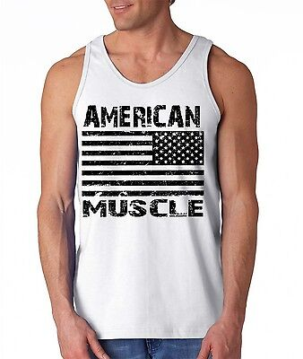 Men/'s US American Flag Black Workout Tank Top USA Beast Muscle Gym Tee