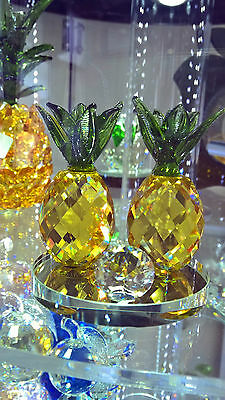 8 cm Crystal Pineapple Wedding Gift Home Applicane Decoration Swarovski Look