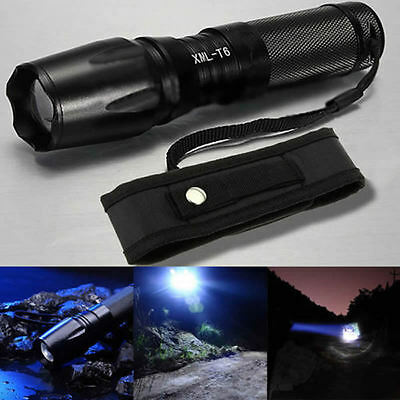 15000Lm XML T6 LED Military X800 Zoomable 26650 18650 Flashlight Torch +Holster