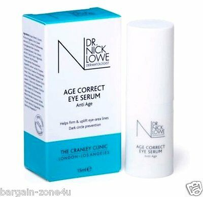 Dr Nick Lowe Age Correct Eye Serum Firm Uplift eye area lines Skin Crème 15ml