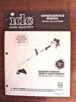 IDC Power Equipment Grass & Weed Trimmer Manual