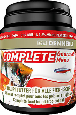 Dennerle Premium Fish Food: Complete Gourmet Menu 200ml for All Fish