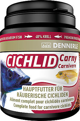 Dennerle Premium Fish Food: Cichlid Carny 200ml for Carnivorous Cichlids