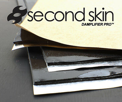 Second Skin Damplifier Pro - 20 Sqft Butyl Trunk Pack (12 sheets) Made in USA