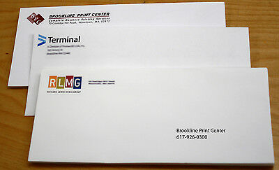 Custom Printed #10 Envelopes Security Tint & PeelnSeal FULL COLOR 250/500/1000