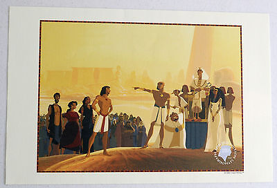 DreamWorks Pictures PRINCE EGYPT Limited Edition Lithograph 1998 2 Movie Tickets