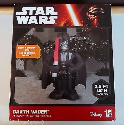Disney-Star Wars-3.5' Led Darth Vader Airblown Inflatable-Party Decor-Bnip,nice!
