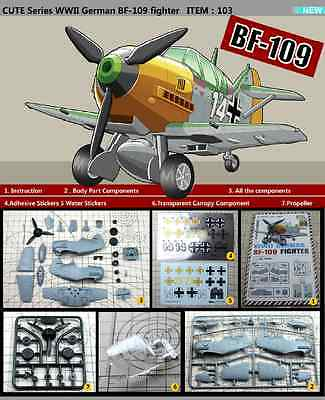 Tiger Model #103 CUTE Series WWII German BF-109 Fighter