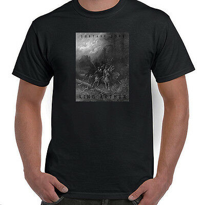 King Arthur & Knights, Idylls of the King, Gustave Dore, T-Shirt, All Sizes, NWT