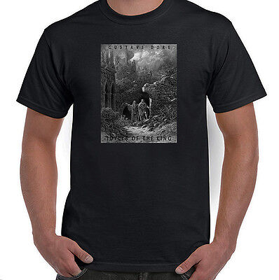 Idylls of the King, Merlin & King Arthur, Gustave Dore, T-Shirt, All Sizes, NWT