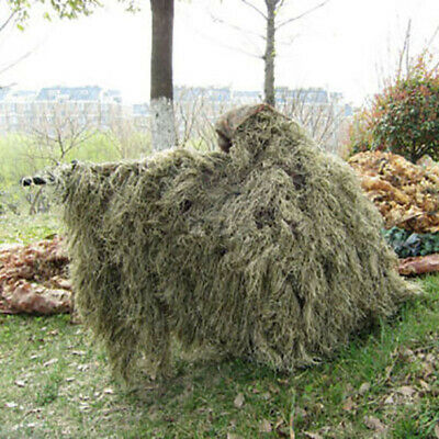 Grass Camouflage Cloak Desert Ghillie Poncho for Training Bow Hunting Sniper