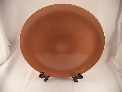 """Russel Wright Iroquois Casual China 13"""" Large Round Plate Brown Nutmeg"""