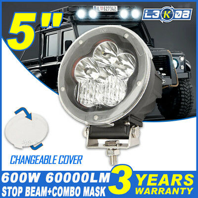5inch 600W CREE LED Driving Light DRL Headlight Spot Offroad 4x4WD Lamp HID 7""