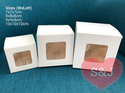 10x White Cupcake DIY Cardboard Container Boxes - Wedding Birthday Party Favours