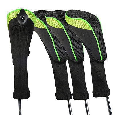 Premium Golf Hybrid Club Head Covers Long Neck Headcover Interchangeable Cover