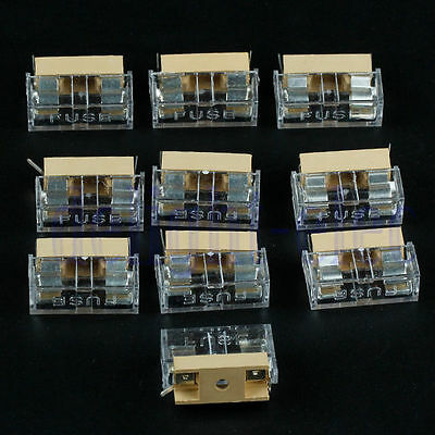 10pcs/Set Panel Mount PCB Fuse Holder Case with Cover 5x20mm DG Soldering