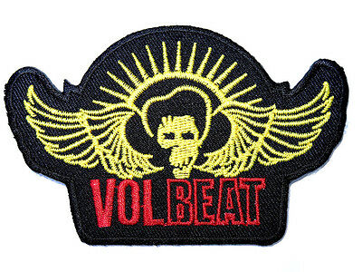 """VOLBEAT Wings Heavy Metal Embroidered Iron On Shirt Bag Badge Patch 3.9"""""""