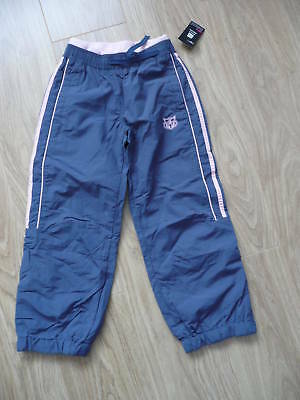 BNWT NEXT Girls Blue & Pink Tracksuit Trousers Age 4 years