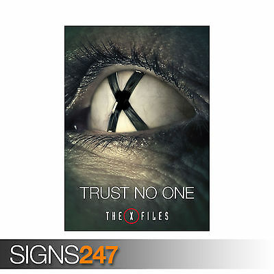 The New X Files Fox Moulder Dana Scully Giant Poster A0 A1 A2 A3 A4 Sizes