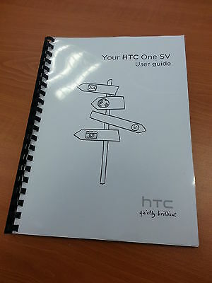 Htc One Sv Full Printed User Manual Guide 206 Pages A5