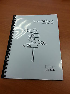 Htc One X Full Printed User Manual Guide 188 Pages A5