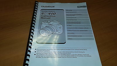 Olympus E-410 Digital Camera Printed Instruction Manual User Guide 128 Pages A5