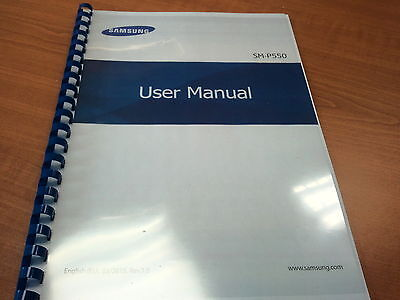 Samsung Galaxy P550  Printed Instruction Manual User Guide 119 Pages A5