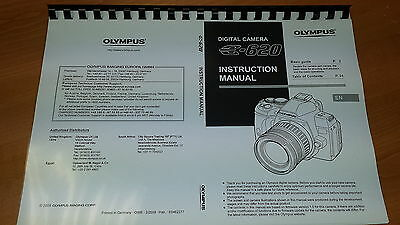 Olympus E-620 Digital Camera Printed Instruction Manual User Guide 163 Pages A5