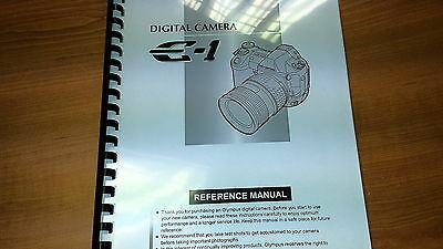 Olympus E-1 Digital Camera Printed Instruction Manual User Guide 182 Pages A5