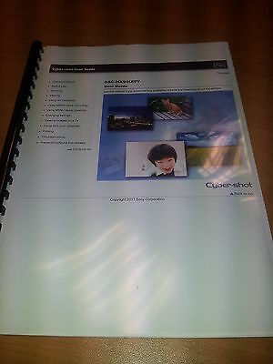 Sony Cybershot Dsc-Hx9/hx9V Printed Instruction Manual User Guide 289 Pages A5