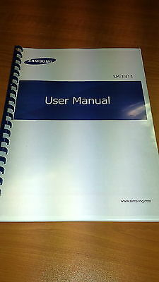Samsung Tab 3 8.0 T311 Printed Instruction Manual User Guide 122 Pages A5