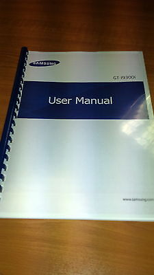 SAMSUNG GALAXY NEO (i9300i) PRINTED INSTRUCTION MANUAL USER GUIDE 133 PAGES A5