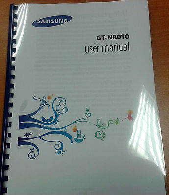 Samsung Galaxy Note 10.1 Gt- N8010 Full Printed Instruction Manual User Guide A5