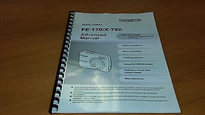 Olympus Fe-170 Digital Camera Printed Instruction Manual User Guide 76 Pages A5