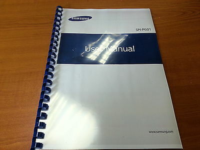 Samsung Galaxy Note 10.1 Sm-P601 Printed Instruction Manual Guide 144 Pages A5