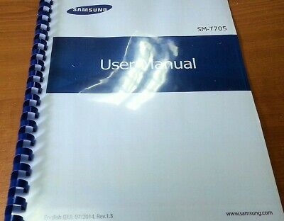 Samsung Galaxy Tab S 8.4 - 4G Sm-T705 Printed Instruction Manual 225 Pages A5