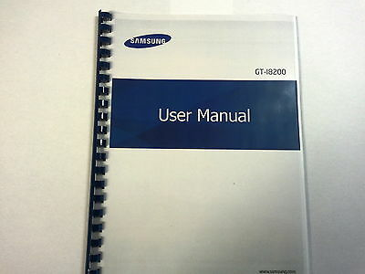 Samsung Galaxy S Iii Mini Ve I8200 Printed Instruction Manual Guide 120 Pages A5