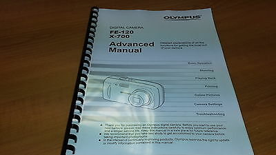 Olympus Fe-120 Digital Camera Printed Instruction Manual User Guide 139 Pages A5