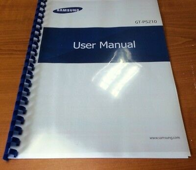 Samsung Galaxy Tab 3 10.1 Gt-P5210 Printed Instruction Manual Guide 102 Pages A5