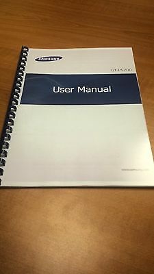 Samsung Galaxy Tab 3 10.1 P5200 A5 Printed Instruction Manual Guide 112 Pages