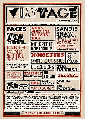 0088 Vintage Music Poster Art - The Faces, Earth Wind Fire, Sandie Shaw